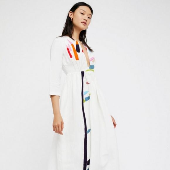 73b63fdec62 Mara Hoffman Xylophone Embroidery Dress